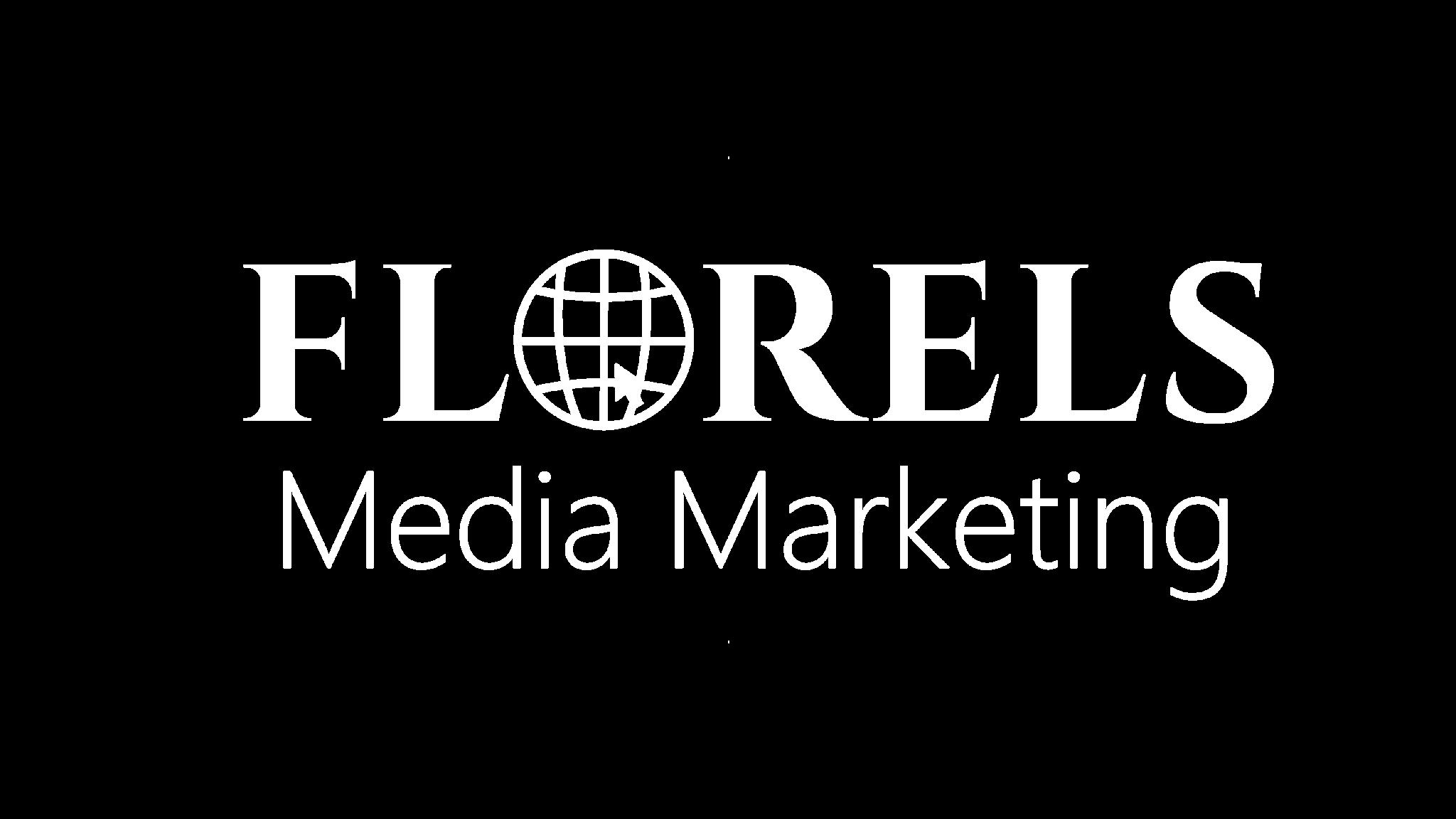 לוגו של פלורלס מדיה בצע לבן